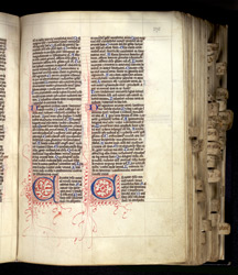 Psalms 97 and 98, in a Bible with Duplex Psalter